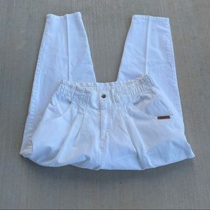 Vintage 90s white high waisted jeans
